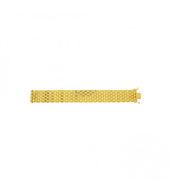 Chaîne Femme - Or 18 Carats - Largeur chaîne : 25 mm - Longueur : 18 cm