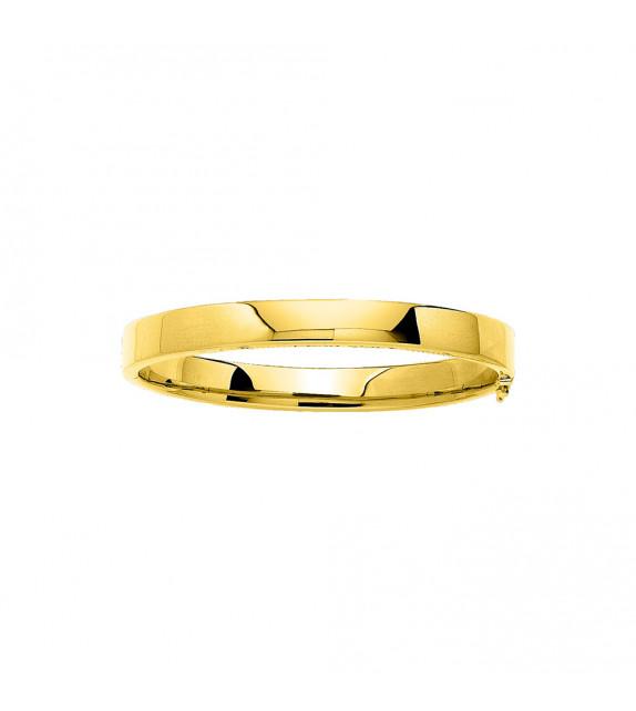 Jonc Femme - Or 18 Carats - Diamètre : 8 mm - Largueur : 8 mm