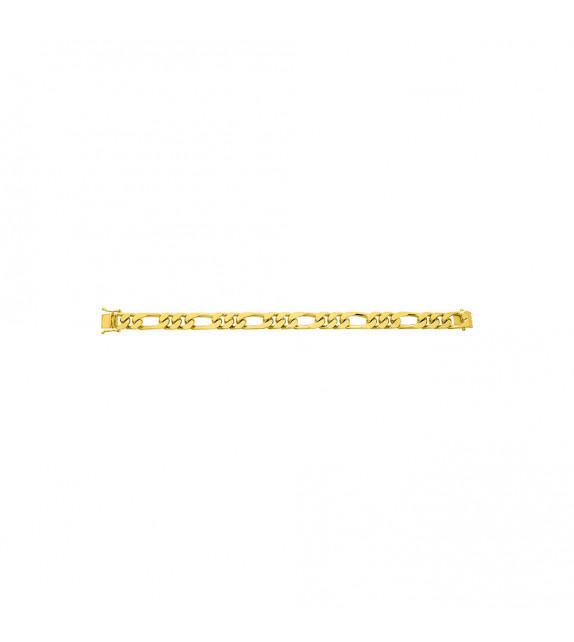 Chaîne Mixte - Or 18 Carats - Largeur chaîne : 9 mm - Longueur : 18 cm