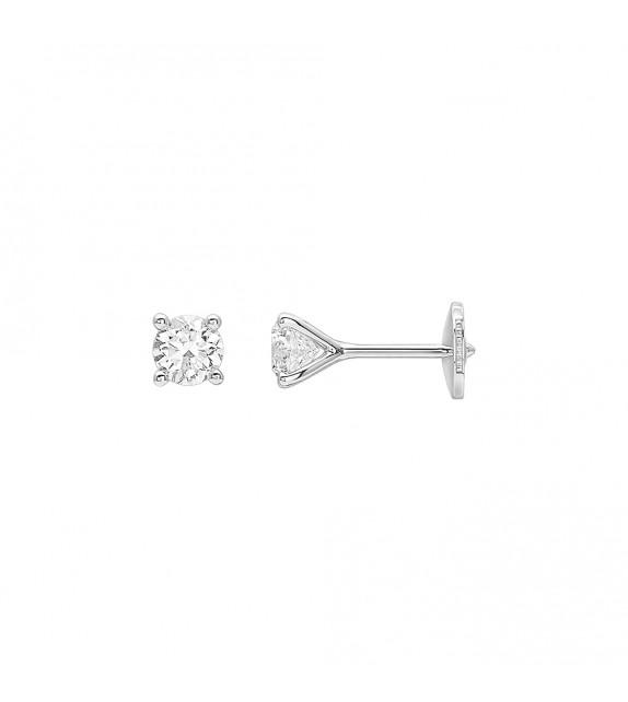 Boucles d'oreilles Femme - Or 18 Carats - Diamant 0,7 Carats