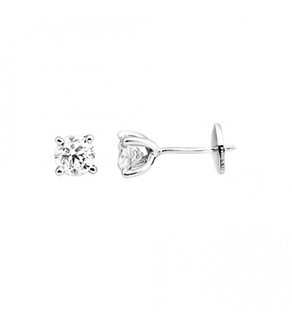 Boucles d'oreilles Femme - Or 18 Carats - Diamant 0,9 Carats