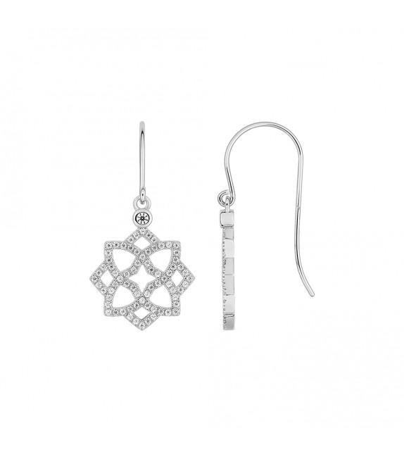 Créoles Femme - Or 18 Carats - Diamant 0,47 Carats