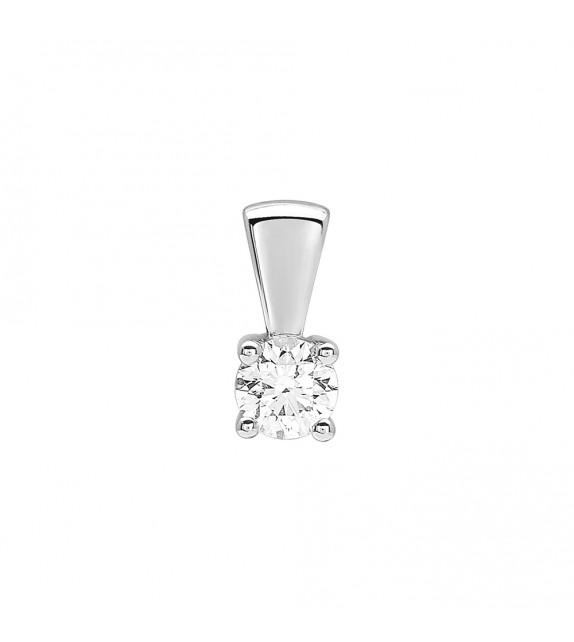 Pendentif Femme - Or 18 Carats - Diamant 0,3 Carats