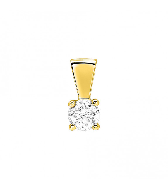 Pendentif Femme - Or 18 Carats - Diamant 0,35 Carats