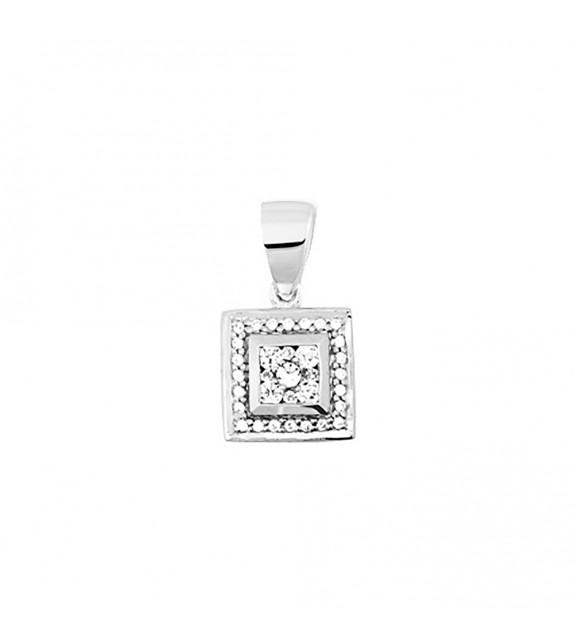Pendentif Femme - Or 18 Carats - Diamant 0,2 Carats