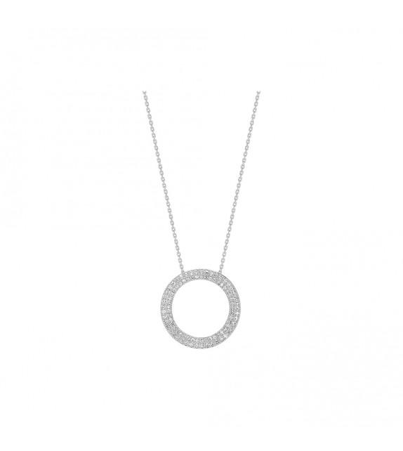 Collier Femme - Or 18 Carats - Diamant 0,5 Carats - Longueur : 42 cm
