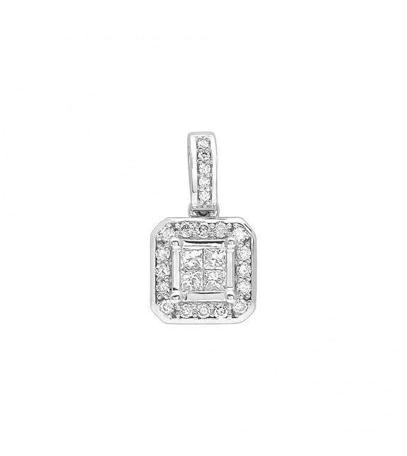 Pendentif Femme - Or 18 Carats - Diamant 0,25 Carats