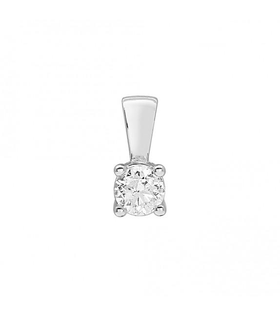 Pendentif Femme - Or 18 Carats - Diamant 0,4 Carats