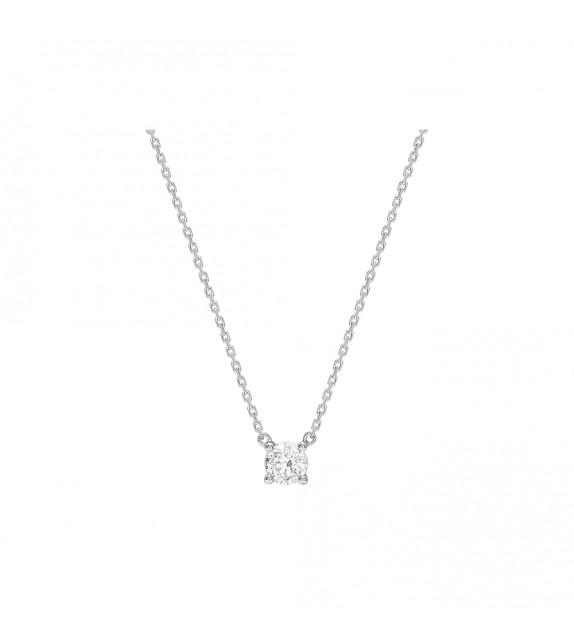 Collier Femme - Or 18 Carats - Diamant 0,4 Carats - Longueur : 42 cm