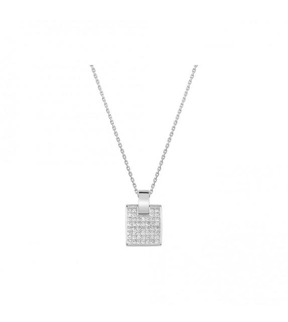 Collier Femme - Or 18 Carats - Diamant 0,28 Carats - Longueur : 42 cm