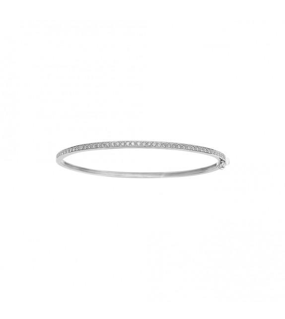 Jonc Femme - Or 18 Carats - Diamant 0,51 Carats