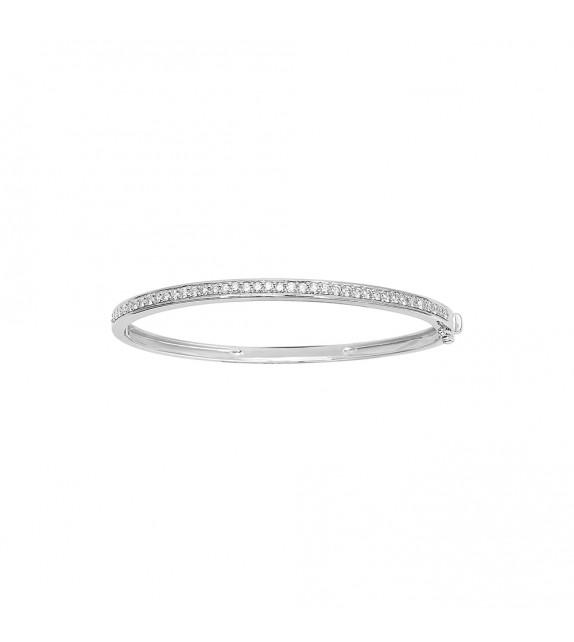 Jonc Femme - Or 18 Carats - Diamant 1 Carats