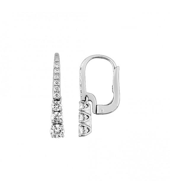 Boucles d'oreilles Femme - Or 18 Carats - Diamant