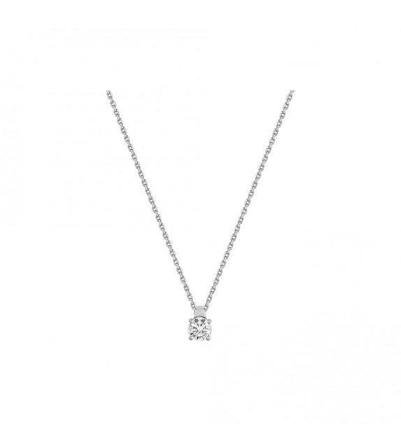 Collier Femme - Or 18 Carats - Diamant 0,3 Carats - Longueur : 42 cm