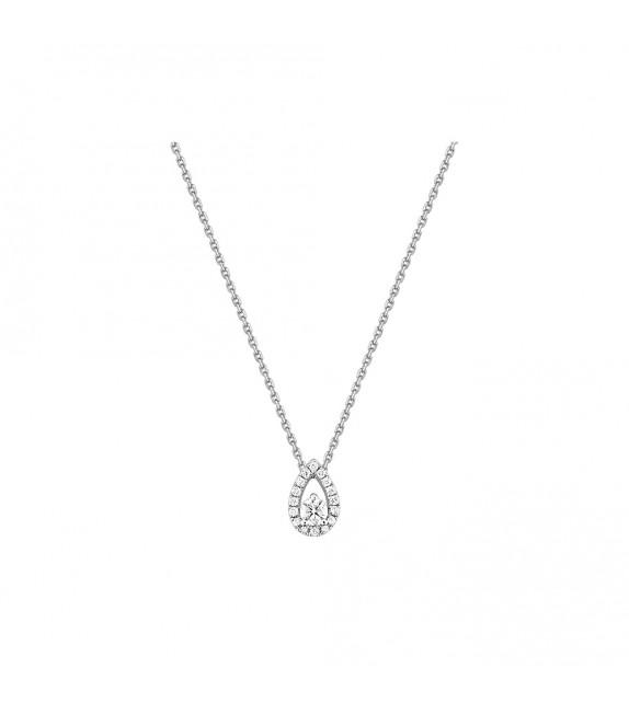 Collier Femme - Or 18 Carats - Diamant 0.243 Carats - Longueur : 42 cm