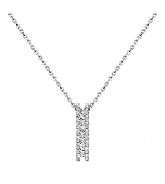 Collier Femme - Or 18 Carats - Diamant - Longueur : 42 cm