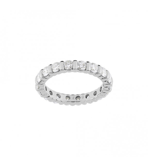 Alliance femme - Or 18 Carats - Diamant 1.8 carats